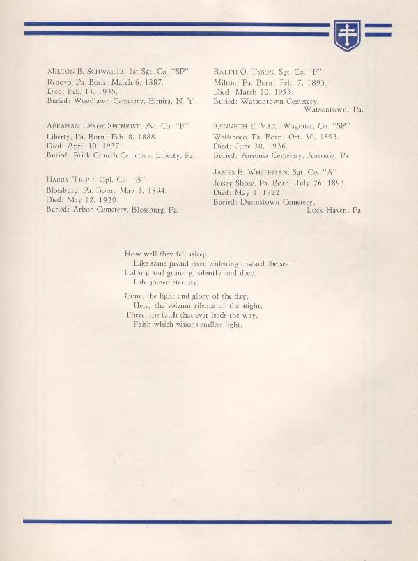 314th Infantry Regiment A.E.F. - Nineteenth Annual Reunion - 1937 - Page 15