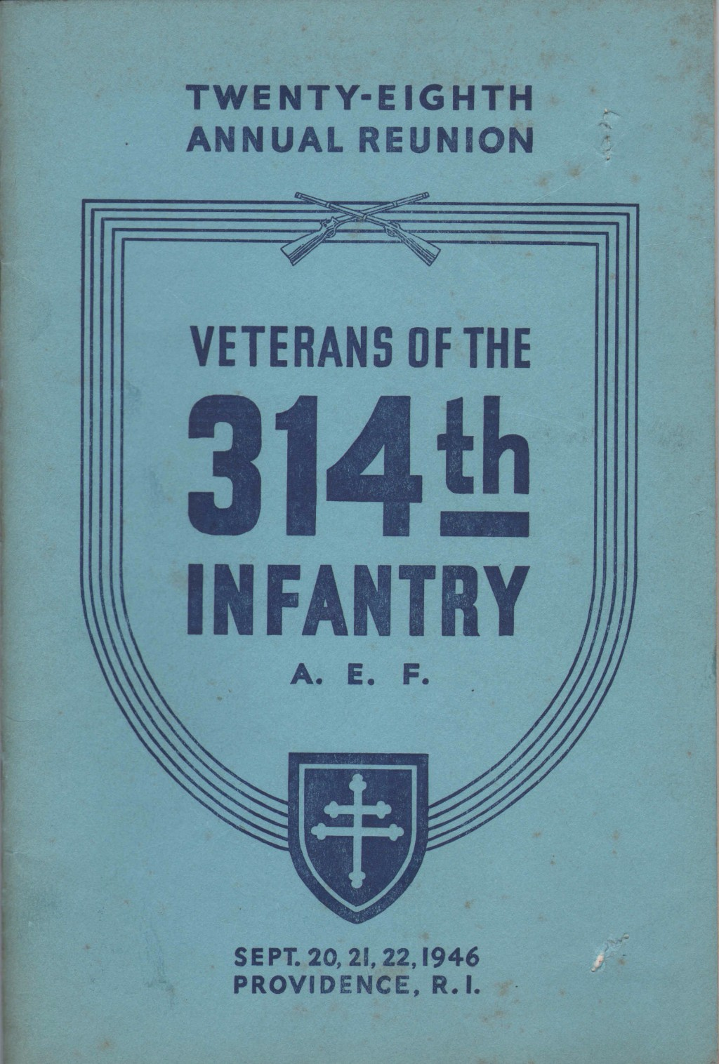 314th Infantry AEF 1946 Reunion Booklet
