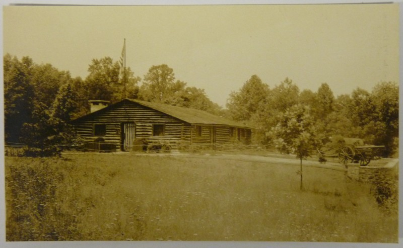 Roy Leslie Sawin - 314th Infantry Log Cabin - Azo Postcard - 1925-1930 - 1 of 3 - 800 Pixel Image