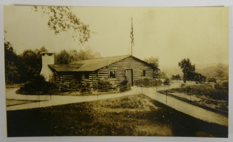 Roy Leslie Sawin - 314th Infantry Log Cabin - Azo Postcard - 1925-1930 - 3 of 3 - 800 Pixel Image