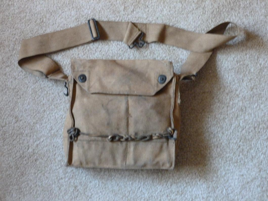 314th Infantry - Roy Leslie Sawin - artifact photo by Diane Sanborne - gas mask bag