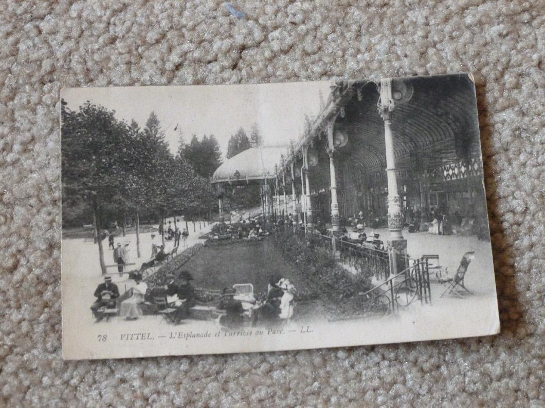 314th Infantry - Roy Leslie Sawin - artifact photo by Diane Sanborne - postcard from France 1918 - front