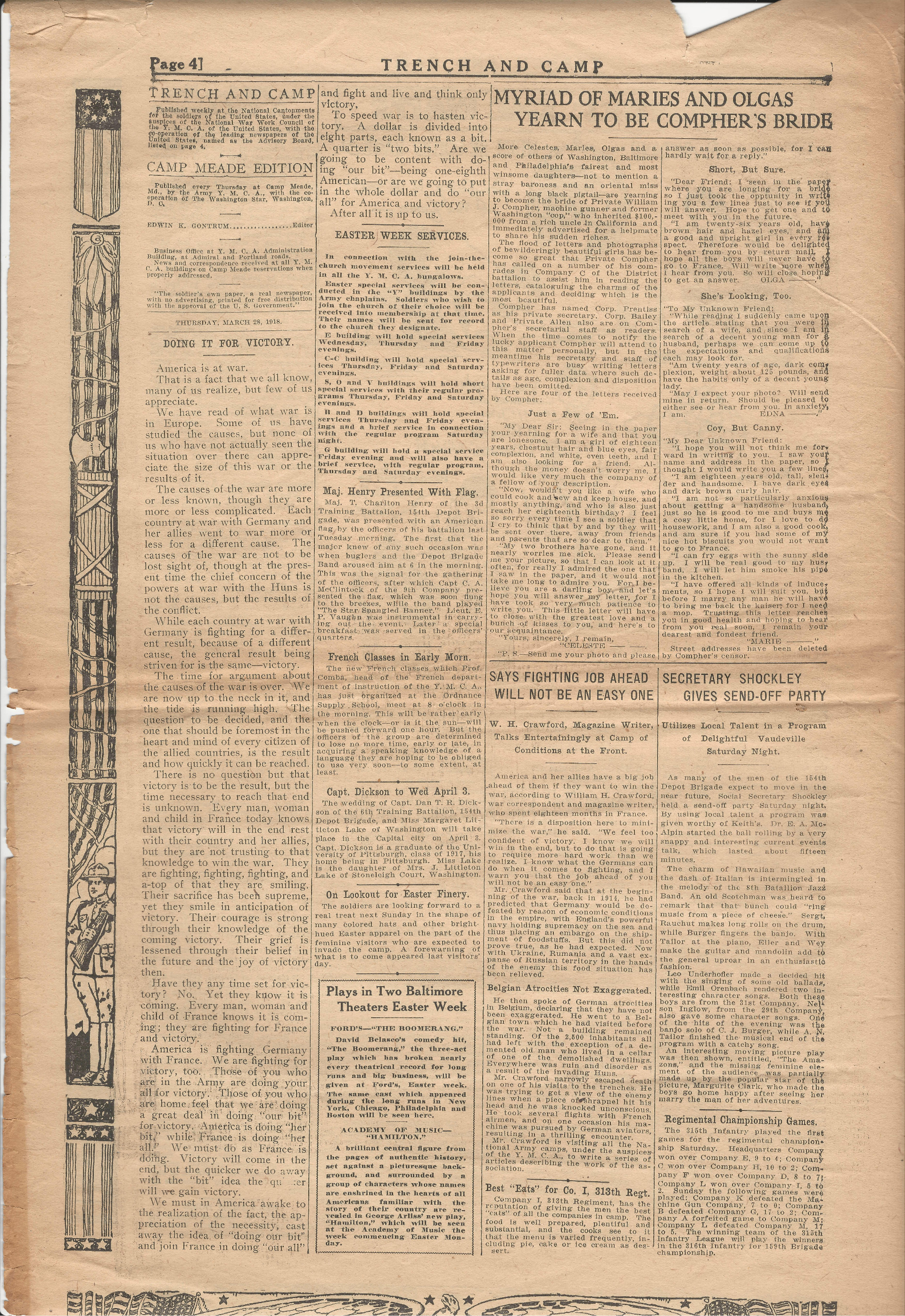 Trench and Camp Newspaper March 27 1918 Page 4