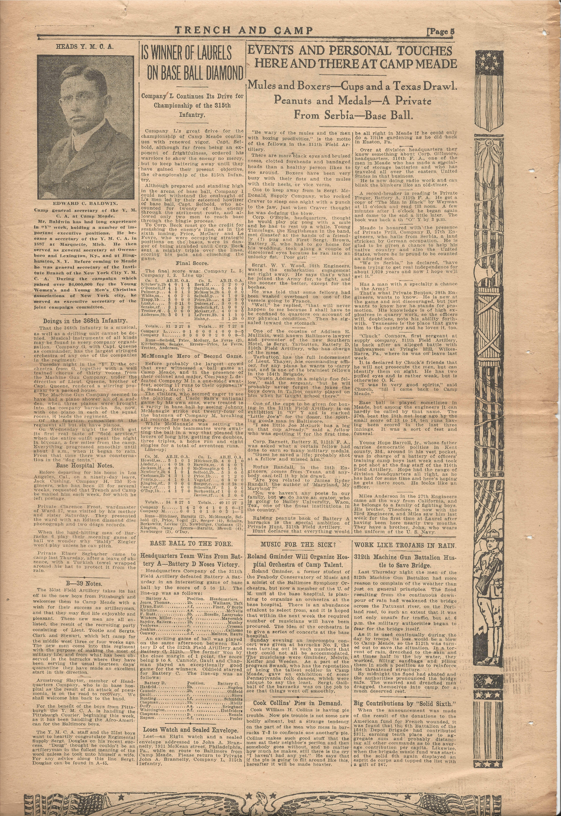 Trench and Camp Newspaper March 27 1918 Page 5