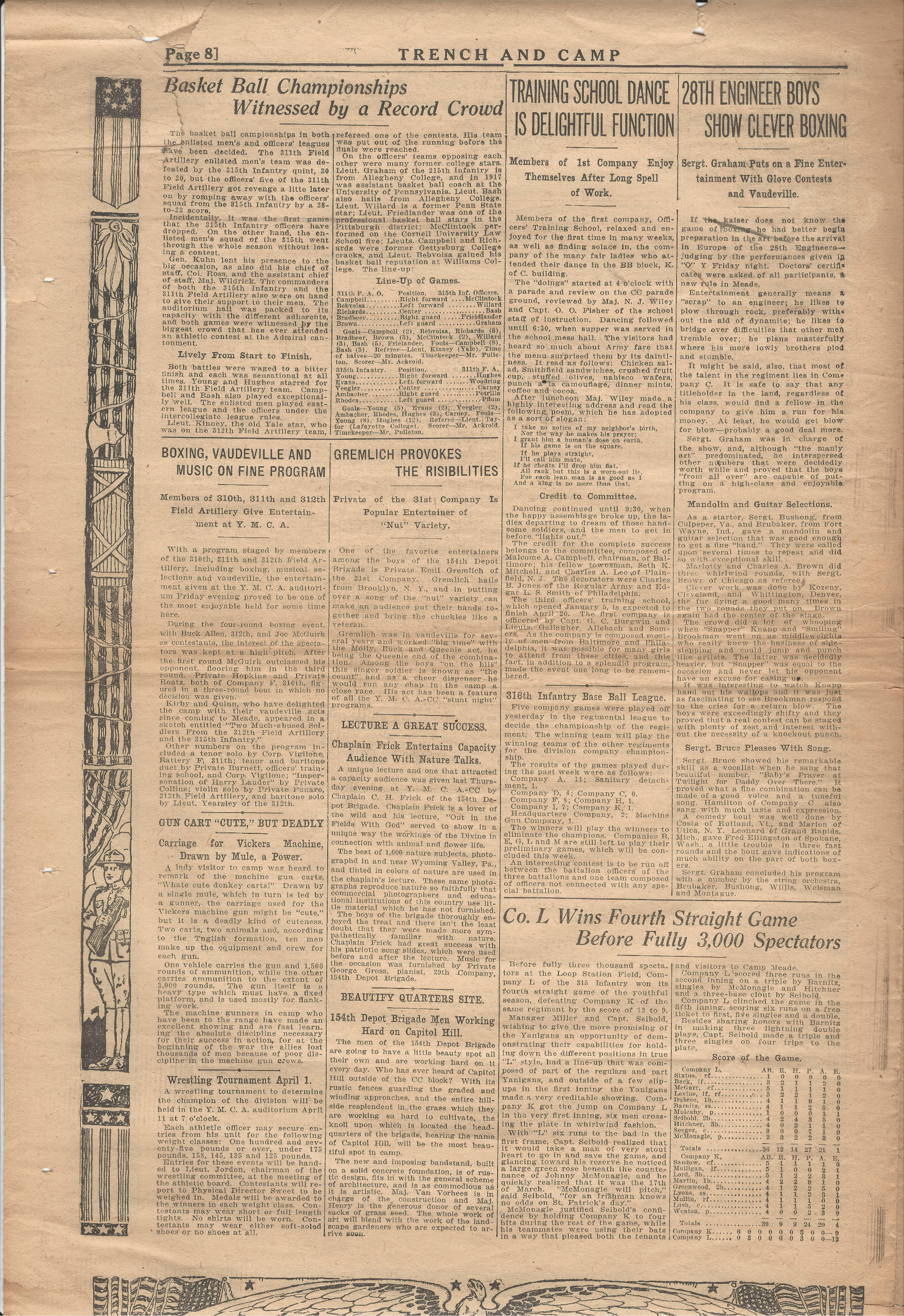 Trench and Camp Newspaper March 27 1918 Page 8