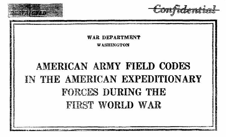 William F. Friedman American Army Field Codes in the AEF during World War One WW1 - page 2