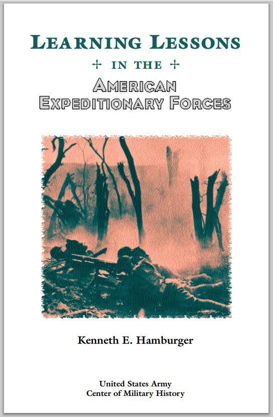 Learning Lessons in the American Expeditionary Forces (AEF) - Cover