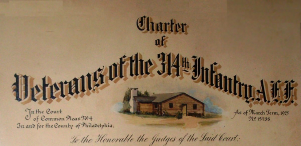 Charter of Veterans of the 314th Infantry A.E.F.