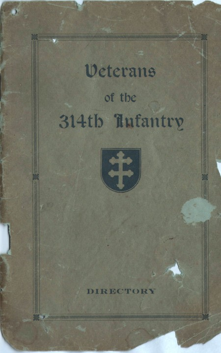 Veterans of the 314th Infantry - 1922 Directory