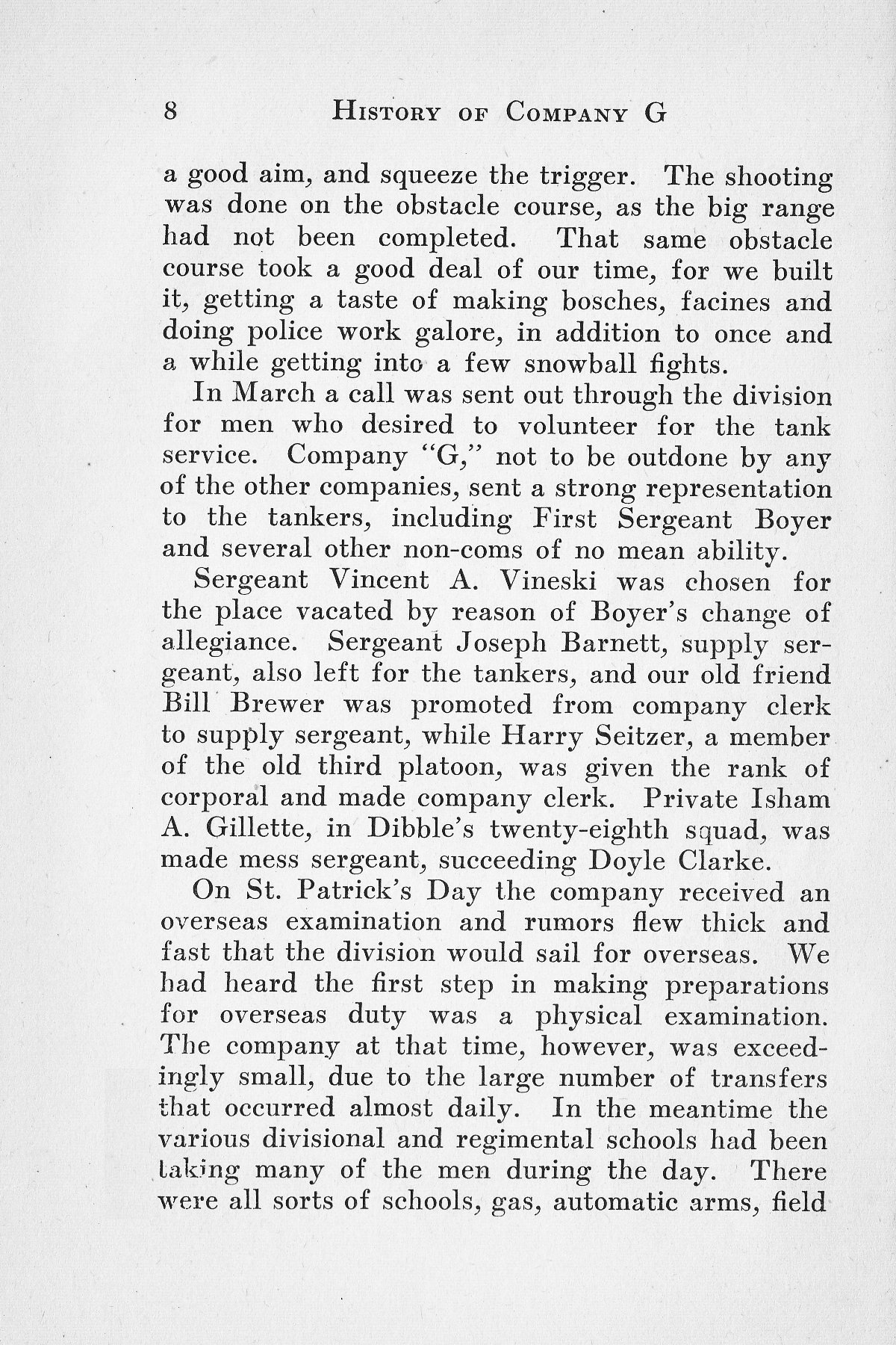 History of Company G 314th Infanty - Page 008