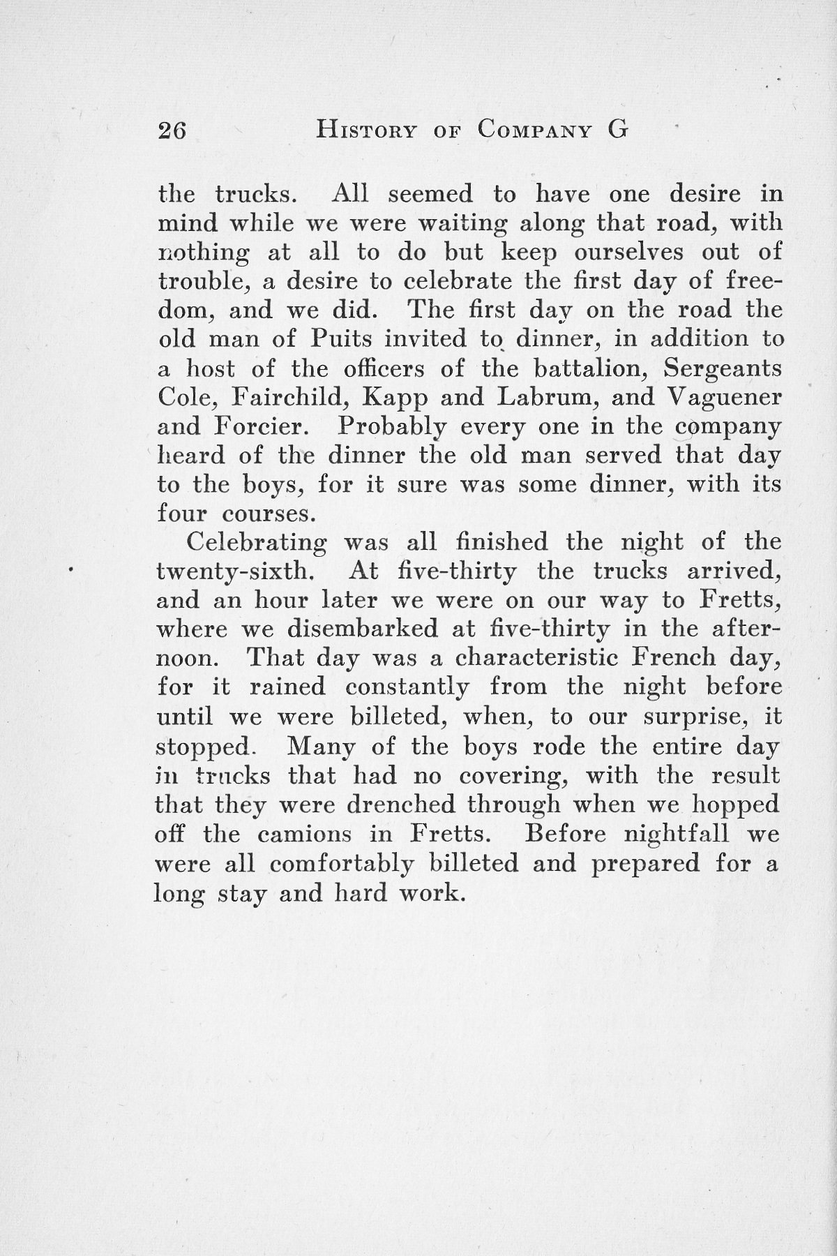 History of Company G 314th Infanty - Page 026