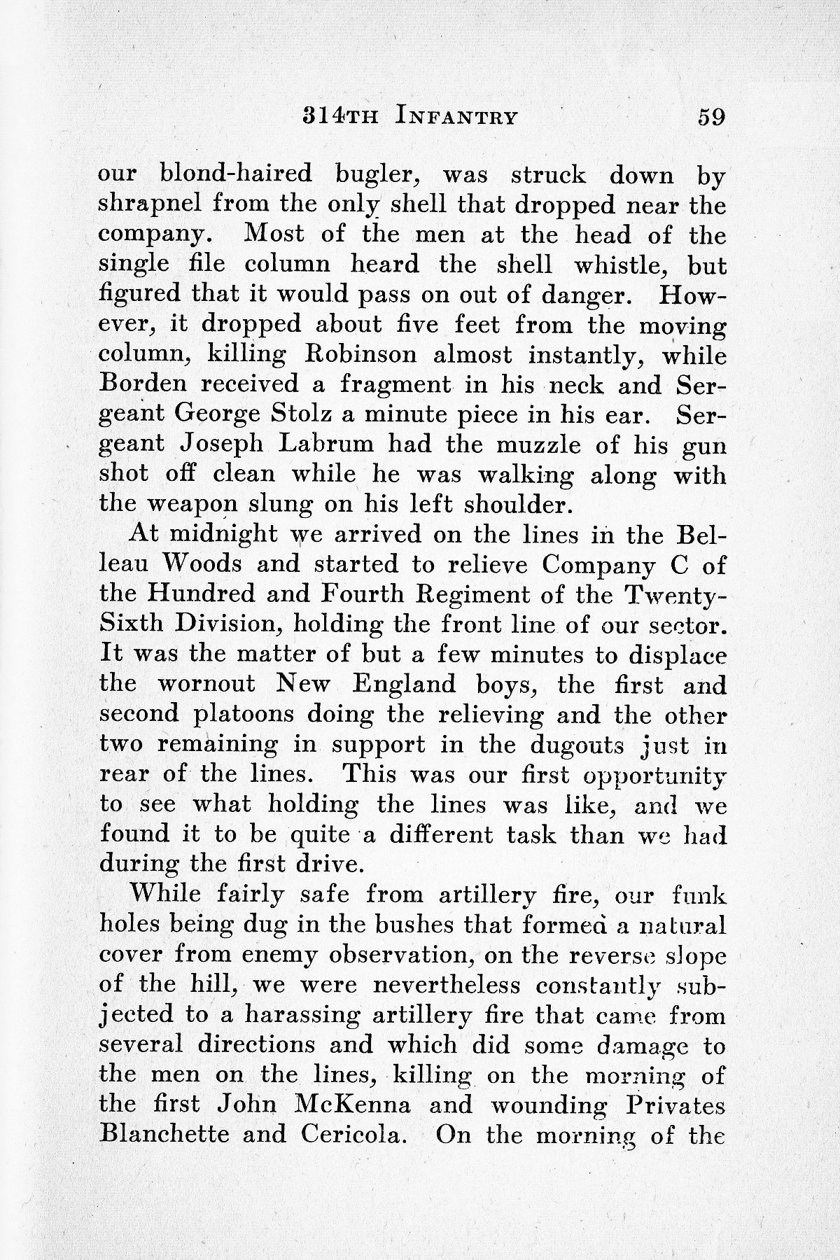 History of Company G 314th Infanty - Page 059