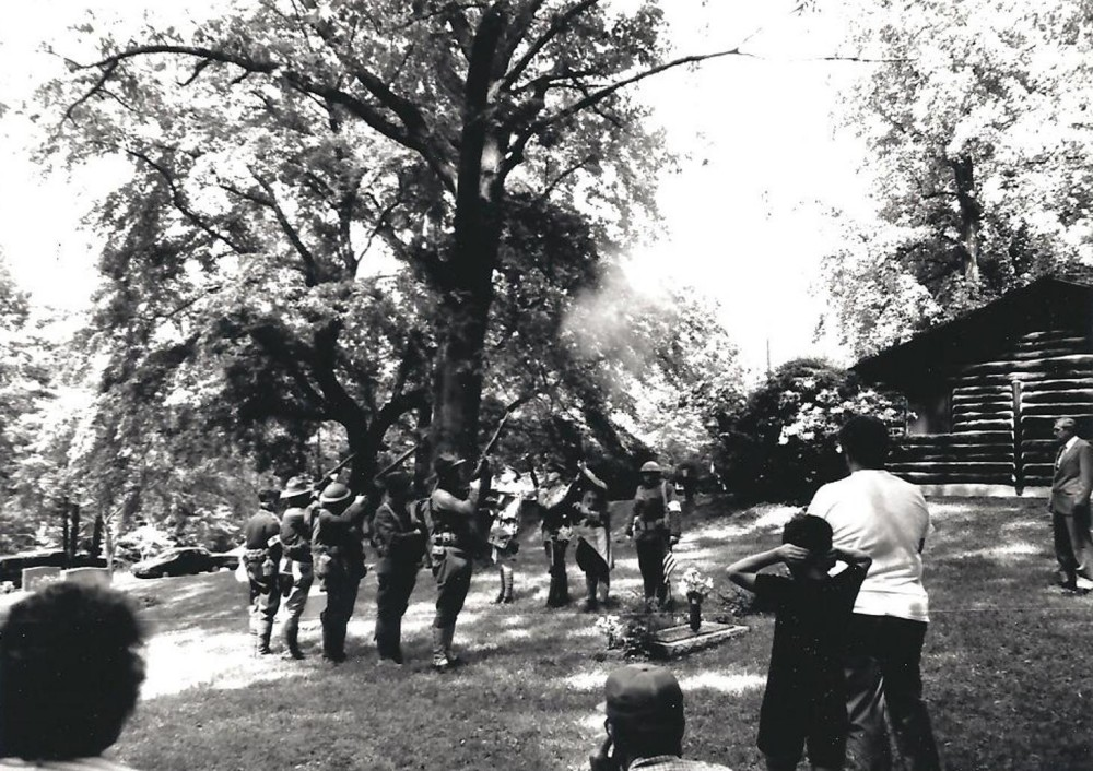 Veterans of the 314th Infantry - 1989 Memorial Service