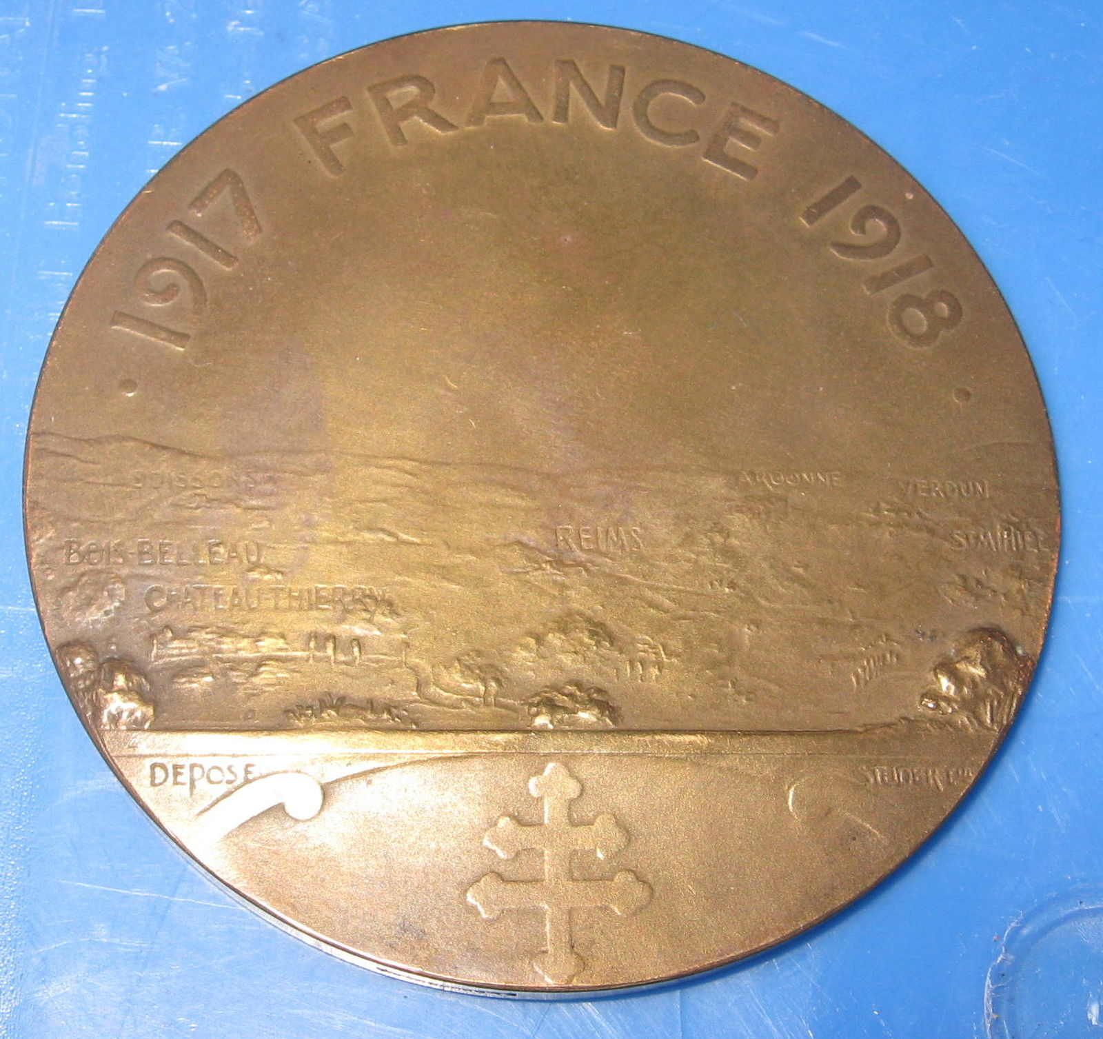 79th Division Medal - back