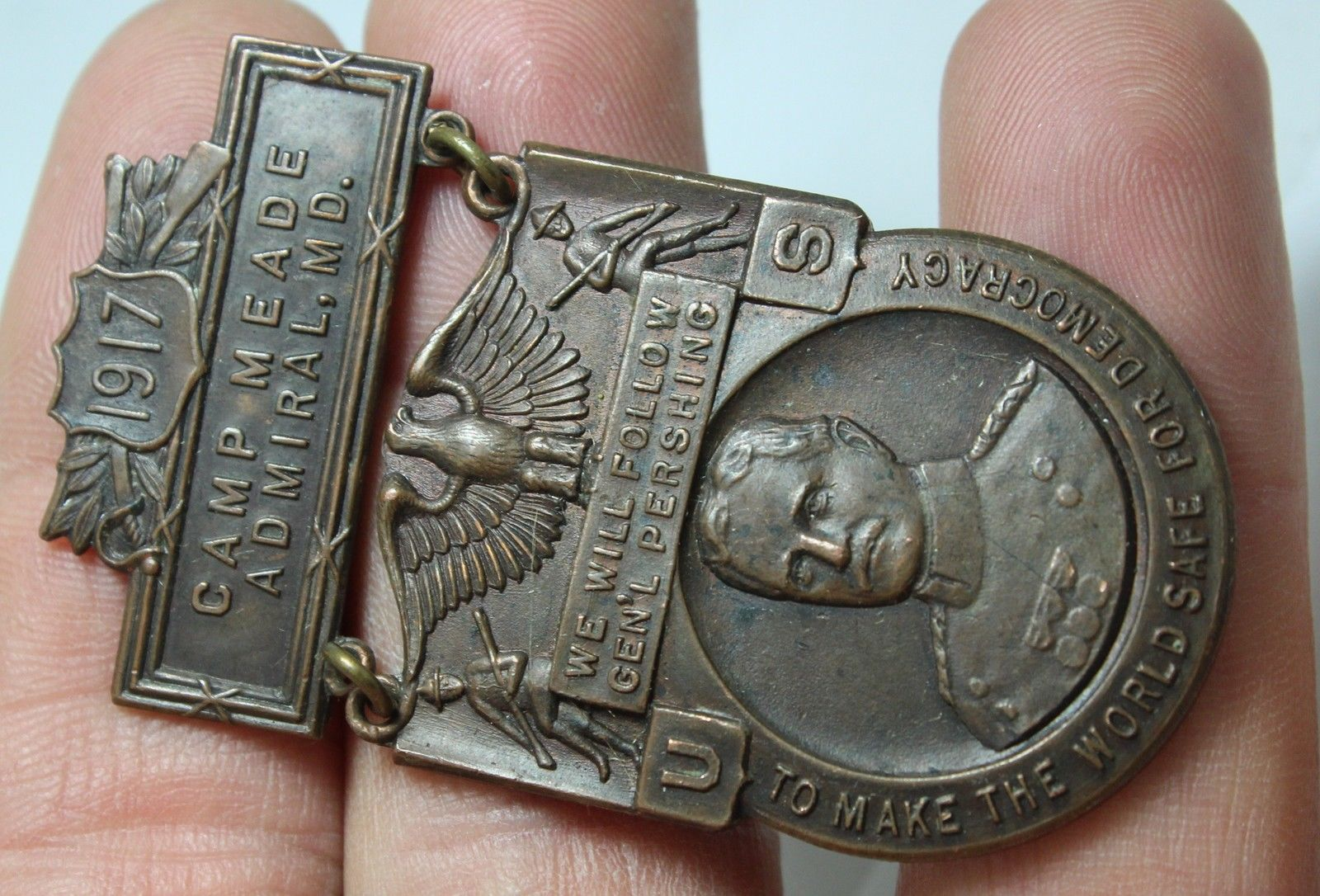 General Pershing Camp Meade 1917 medal - 2