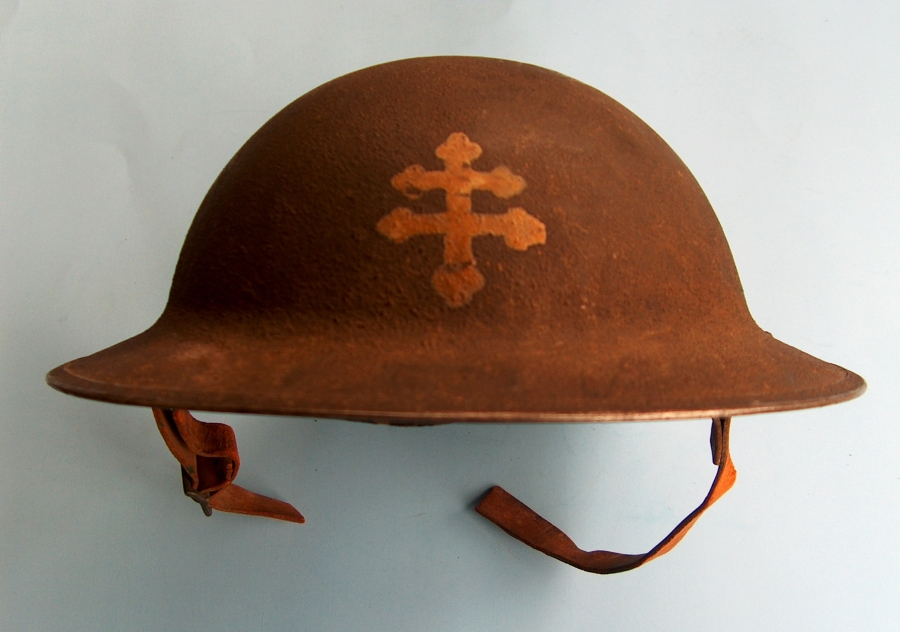 World War One - 79th Division - Cross of Lorraine - Helmet
