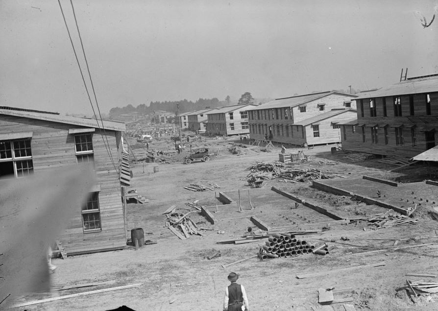 Camp Meade construction during 1917