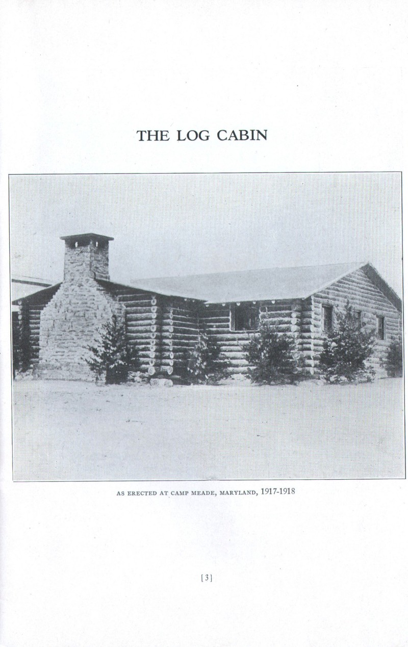 Log Cabin Memorial - Veterans 314th Infantry Regiment A.E.F. - Information Booklet - Page 03 - 800 Pixel Image