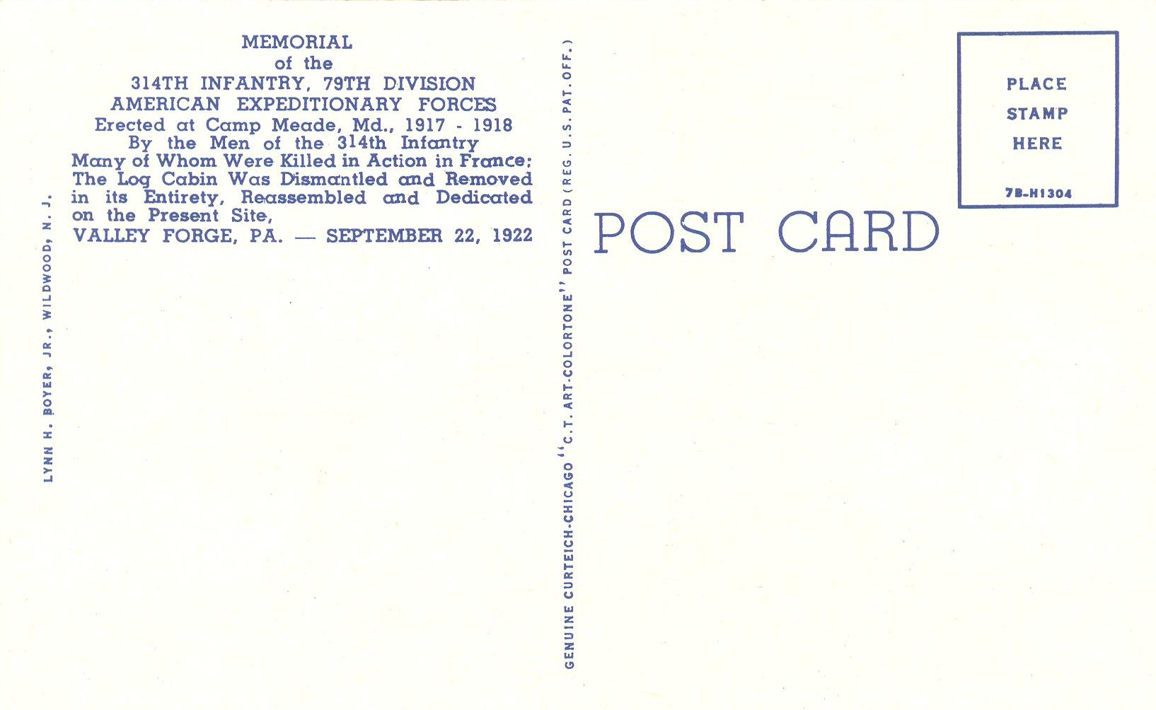 See The Back Of Postcard Here