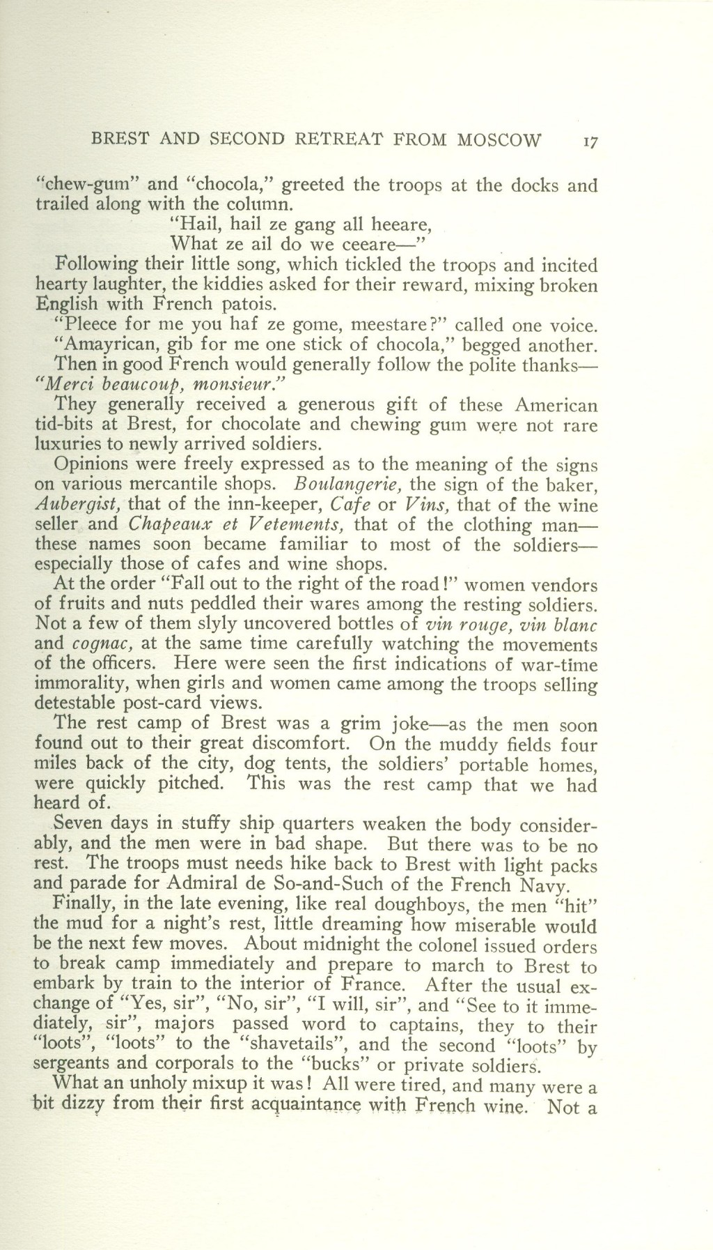 Veterans 314th Infantry Regiment A.E.F. - Under The Lorraine Cross - book by Arthur H. Joel - 1921 - Page 017